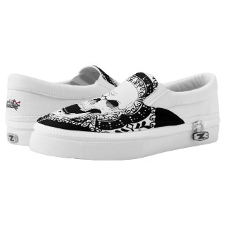 Skull Decor slipons Slip-On Shoes