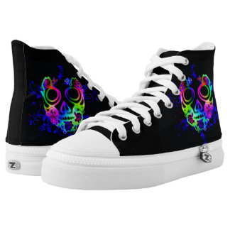 Skull design high tops