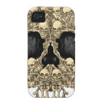 Skull Design - Pyramid of Skulls and Roses iPhone 4/4S Cases