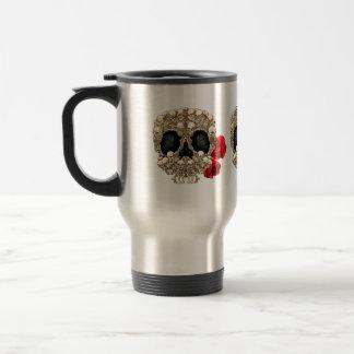 Skull Design - Pyramid of Skulls and Roses Coffee Mugs