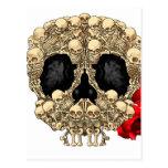 Skull Design - Pyramid of Skulls and Roses Postcard