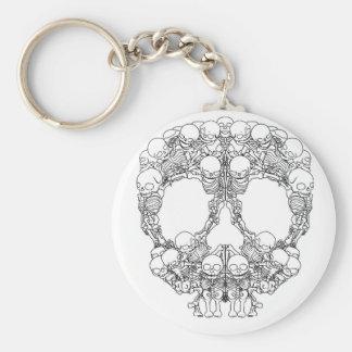 Skull Design - Pyramid of Skulls Key Ring