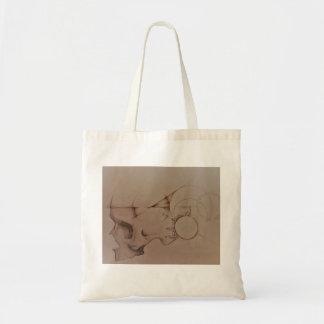 Skull Design Tote Bag