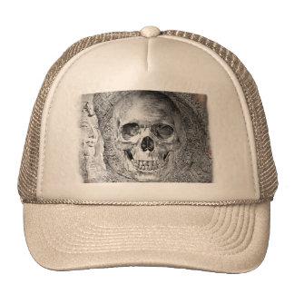 Skull desing on the cap mesh hats