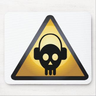 skull dj mouse mat