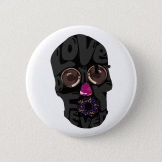skull-donut 6 cm round badge