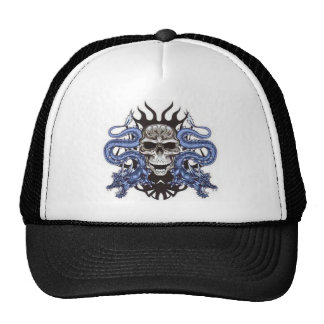 skull dragons design cap