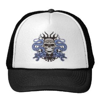 skull dragons design mesh hats