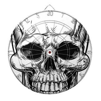 Skull Drawing Dartboards