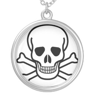 Skull earrings personalized necklace