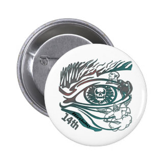 Skull Eye 14th Birthday Gifts 6 Cm Round Badge