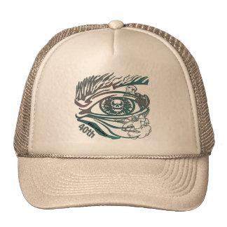 Skull Eye 40th Birthday Gifts Trucker Hats