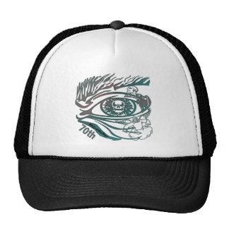 Skull Eye 70th Birthday Gifts Hat