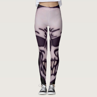 Skull Face Leggings