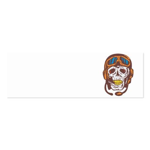 Skull Face Pilot Airman Business Card