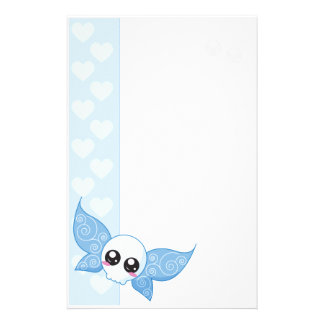 Skull Fairy - Blue Stationery