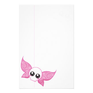 Skull Fairy Pink Stationery