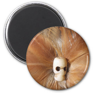 Skull Feathers magnet