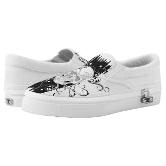 Skull & Filigree Slip on Sneakers