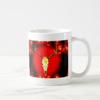 Skull & Fire Basic White Mug