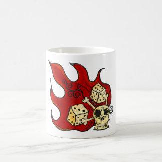 Skull Fire Basic White Mug