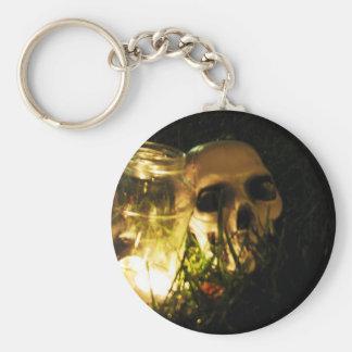 Skull Fire Key Chain
