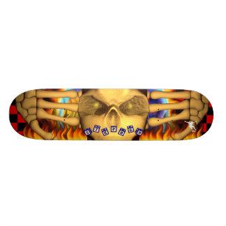 Skull Fire Name Toy Blocks Design Skate Decks
