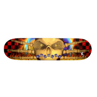 Skull Fire Name Toy Blocks Design Skateboard Decks