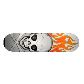 Skull Fire 21.6 Cm Old School Skateboard Deck