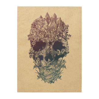 Skull Floral Wood Wall Art