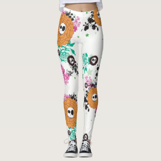 Skull Flowers Leggings
