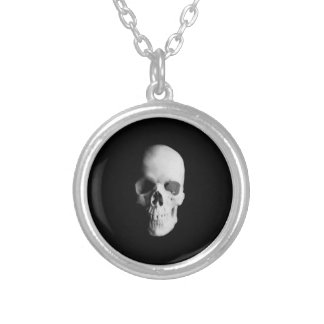 Skull For Horror Fans and Goths Silver Plated Necklace