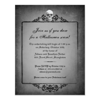 Skull Frame Halloween Invitation