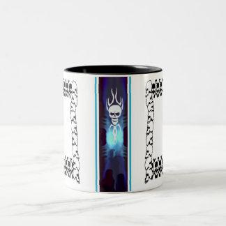 Skull Frame Two-Tone Coffee Mug