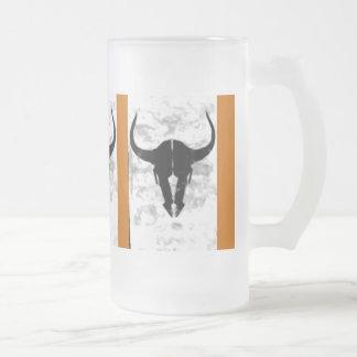 Skull Frosted Glass Mug