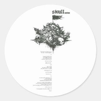 skull full layout round sticker