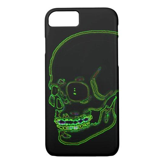 Skull funky neon green! iPhone 7 case