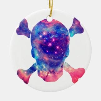 Skull Galaxy Christmas Ornament