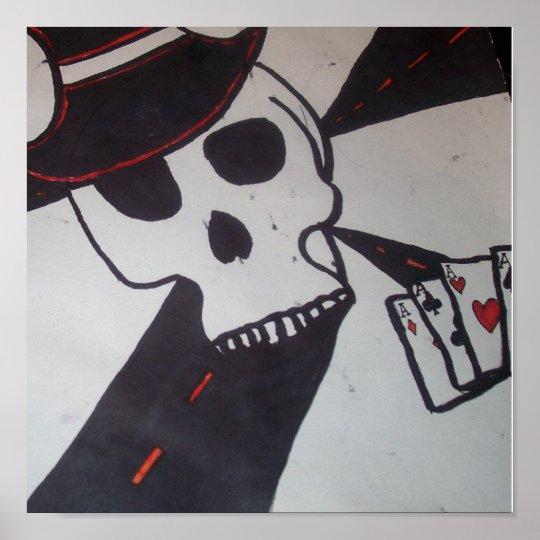 Skull Gambler Poster