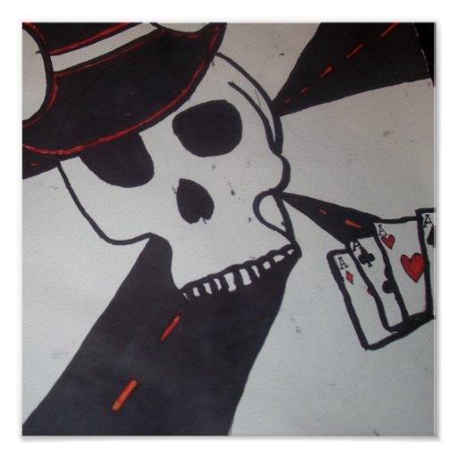 Skull Gambler Print
