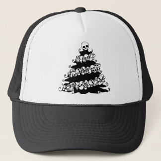 Skull Garland Christmas Tree Trucker Hat