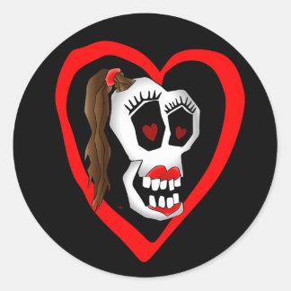 skull girl-1 stickers