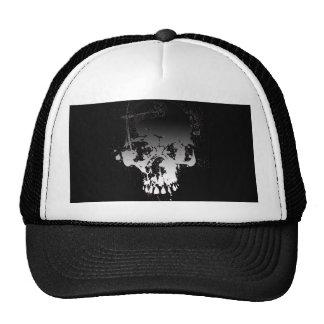 Skull gradient b&w cap