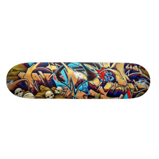 Skull Graff Deck Custom Skate Board