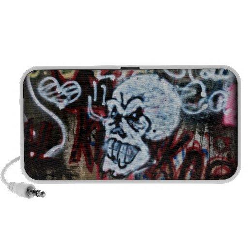 Skull Graffiti Style Mp3 Speakers