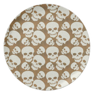 Skull Graphic Pattern Design Plate