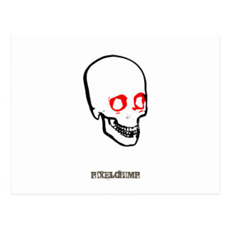 Skull Graphic White Postcard