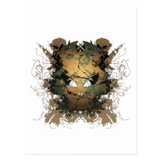 Skull Greed Postcard