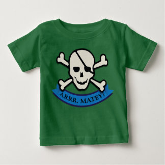 Skull - Green Baby Fine Jersey T-Shirt