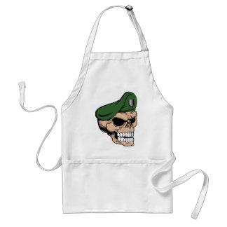 Skull Green Beret Standard Apron